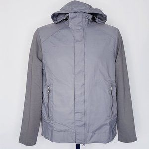 BANANA REPUBLIC Scuba Hood Jacket Gray Grey Sz. M